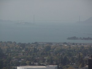 Golden Gate Bridge as seen from UC Berkeley campus