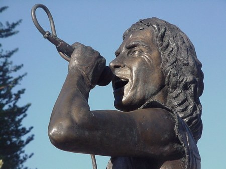 Rock star's statue