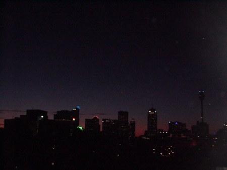 Darknesss at sundown